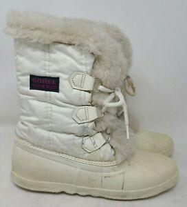 Vintage Sorel Womens 11 White Waterproof Snow Boot Winter