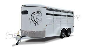 2x Large Horse Horsebox Trailer Vinyl Stickers Decals Graphics 55cm x 70cm A177