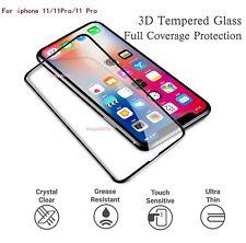 Para iPhone 11 Pro 11 Max 3D Cubierta De Cristal Completo Protector de Pantalla de Vidrio Templado