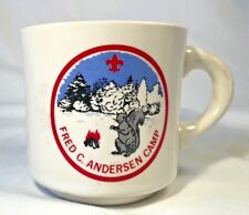 Vintage Boy Scouts of America Coffee Mug, F. C. Andersen Scout Camp