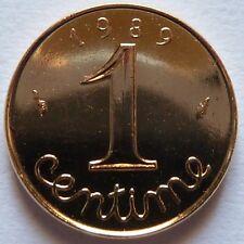 1 Centime Epi 1989 plaqué Or. Pour faire un cadeau souvenir du Franc
