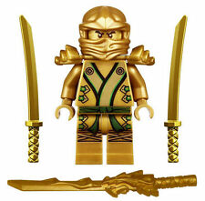 LEGO Ninjago GOLDEN NINJA (LLOYD) Minifigure Golden weapons from 70503 70505