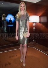 $8,500 GUCCI DRESS FAMOUS RUNWAY PALE GREEN SILK GEORGETTE SEQUIN Size Small -m