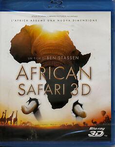 AFRICAN SAFARI 3D  bollino noleggio BLU RAY NUOVO