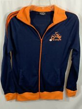 Women's Orange Navy Piaggio Vespa Motorbike Graphic Italian Jacket Size Small