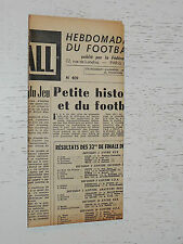 FRANCE FOOTBALL OFFICIEL HEBDOMADAIRE FFF N°409 19/01 1954