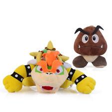 2PCS Super Mario Bros King Koopa Bowser Goomba Plush Toy Stuffed Doll Xmas Gift