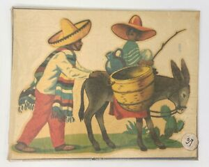 Vintage Meyercord Decals - Mexican Man Motif, Burro - Cliche Images