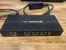 Ubiquiti EdgeRouter Lite Erlite-3 w/ Ac adapter