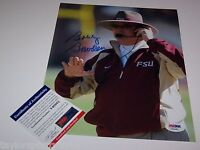 BOBBY BOWDEN Signed FLORIDA STATE HEADSET 8x10 Photo PSA CERTIFIED