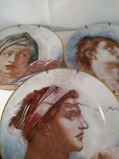 Fitz & Floyd Fine Porcelain Michelangelo 3 Plates #'s 530, 531, 532