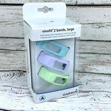 Garmin Wrist Bands Serenity 3 Pack for Vivofit 2 Mint Cloud Lilac Size Large