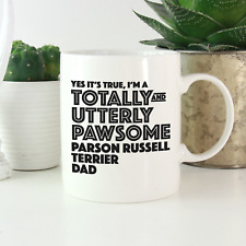 More details for parson russell terrier dad mug: funny gift terrier dog owners & lovers gifts!