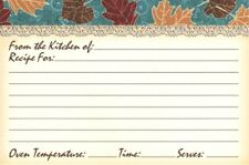 Fall Autumn Falling Leaves In The Wind Leaf Recipe Cards - Set of 20 - New