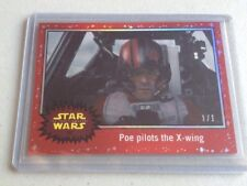 2015 Topps Star Wars 1/1 (RED) Journey to the Force Awakens #90 - Poe Pilots