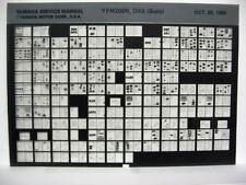 Yamaha YFM200N DXS (supp) 1985 1986 YFM200 Service Manual Microfiche a610