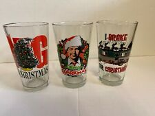 National Lampoon's Christmas Vacation 3 Pack Drinking Glasses Collectors Series