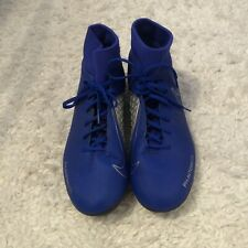 NIKE PHANTOM VSN Sock Blue And Silver football boots UK8