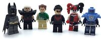LEGO LOT OF 6 SUPER HERO MINIFIGURES NIGHTWING BATMAN HARLEY QUINN SANDMAN MORE
