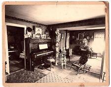 Vintage Large-Format Photo of Adirondack Interior – Jay, New York