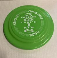 "CAPTAIN CURT'S Green 9"" FRISBEE Siesta KeyFLorida 2016 FREE ship"