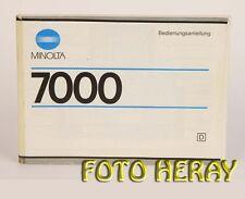 Minolta 7000 Bed-Istruzioni Instructions Manual tedesco edizione 03159