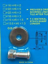 22*6*2mm Dia Titanium Coated Rotary Bearing Tile Cutting Wheel