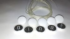 UPHOLSTERY BUTTONS.WIRE LOOP BACK +LENGTH OF TWINE 12 X NO36 WHITE VINYL COVERED