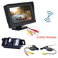 """4.3"""" LCD Car Rearview Monitor System with Wireless IR Night Vision Backup Camera"""