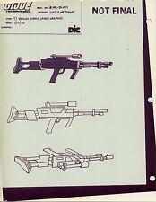 "G.I. Gi Joe Cobra Laser Weapon (Saw) Model Cel ""Photo"" 80-90's Cartoon 1990 Dic"