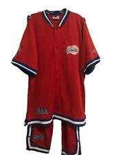 Los Angeles Clippers Track Suit Shooting Shirt Jacket + Snap Button Pants 3XL