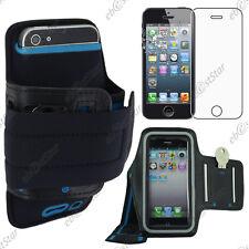 Housse Coque Etui Brassard Sport Armband Noir Apple iPhone SE 5S 5 + Verre