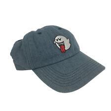 Ghost Boo Blue Denim Hat Baseball Cap Super Mario Bros Dad Buckle Teresa Gift
