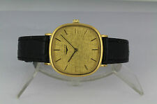 Swiss Longines gold sand dial manual wind gold plated cushion case dress watch
