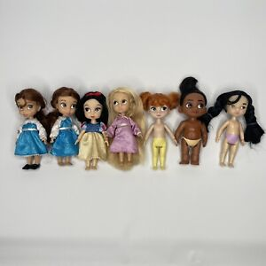 Used Disney Mini Animators Doll Lot As Is TLC Beauty and the Beast Snow White