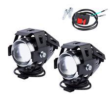 2x 125W U5 Motorcycle dirt bike LED Headlight Lights Bulb for Harley honda BMW