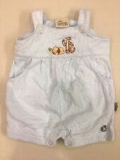Disney~Sincerely Pooh~Baby Boy Girl Infant 0-3M~Winnie Tigger Romper~Cotton~Blue