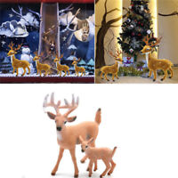 1 Pc Christmas Deer Reindeer Santa Craft Home Decor Xmas Elk Fabric Ornaments