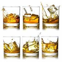 Crystal Rocks Whiskey Glasses Heavy Base Lead-Free Scotch Liquor Glass Mug 12oz