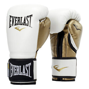 Everlast P00000722 Women's 12 Ounce Powerlock Hook & Loop Training Gloves, White