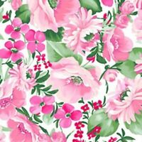 Chelsea Floral Cotton Fabric by Clothworks