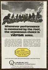 1976 Quabaug Vibram Shoe Soles Print Ad American K2 Expedition