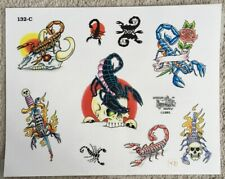 "Tattoo Studio Shop Flash Single Sheet Scorpion Scorpio Skull 11"" X 14 Print"