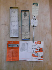 Vtg Taylor Roast Meat and Poultry Thermometer #5936 Rochester NY USA In Original