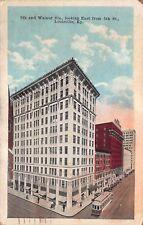VTG 1926 POSTCARD LOUISVILLE KY WALNUT ST W MUHAMMED ALI BLVD & 5TH BUILDING A27