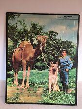 """Vintage 1957 Rin-Tin-Tin Frame Tray Puzzle 14"""" x 12"""" Whitman (German Shepherd)"""