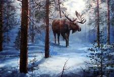 """Jim Hansel """"North Country"""" Bull Moose Print  16"""" x 12"""""""