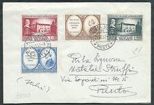 1957 VATICANO FDC COLLEGIO CAPRANICA NO TIMBRO DI ARRIVO - SV12