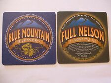 Beer Coaster ~*~ BLUE MOUNTAIN Brewery Full Nelson Virginia Pale Ale ~ Afton VA