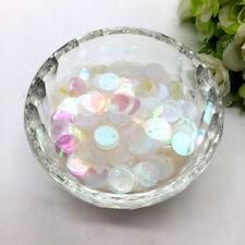 350pcs 10mm Sparkle Sequins Transparent Round Paillette Sewing Wedding Craft #02